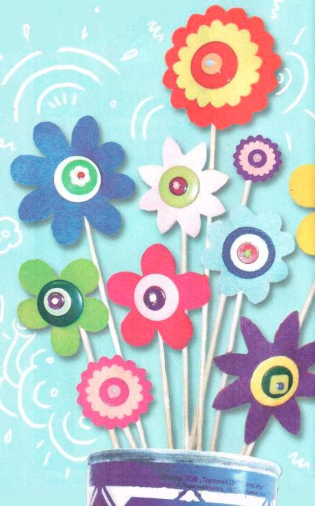 Детское творчество поделки цветы